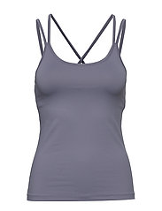 Cross Back Yoga Top - FOG BLUE
