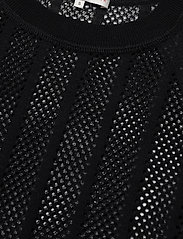 Filippa K Soft Sport - Cotton Mesh Knit Top - t-paidat - black - 2