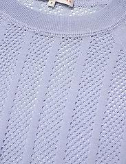 Filippa K Soft Sport - Cotton Mesh Knit Top - t-paidat - sky blue - 2