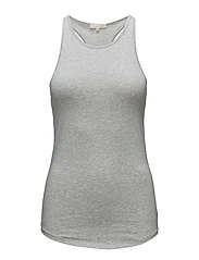 Athletic Cotton tank - LIGHT GREY