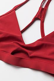 Filippa K Soft Sport - Athletic-cut Top - hauts de 2 pièces  - rouge - 2