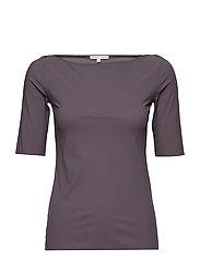Slim Mid sleeve Top - BLACK PEAR