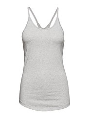Cotton Strap Tank - LIGHT GREY