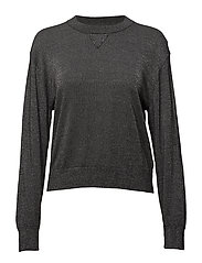 Lurex Knit Sweatshirt - ANTRACITE