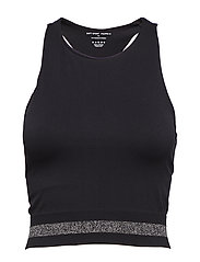 Seamless Crop Tank - BLACK