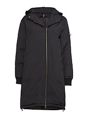 Nora Hooded Down Jacket - BLACK