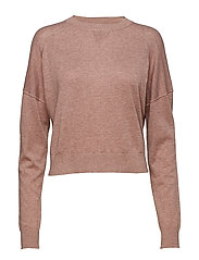 Light Knit Sweatshirt - MINK MEL.