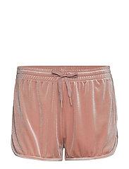Sporty Velvet Shorts - DUSTY ROSE