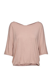 Rib Layer Top - DUSTY PINK