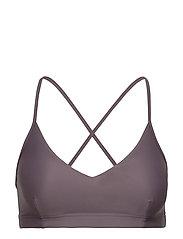 Cross-back Bikini Top - MAUVE