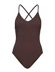 Filippa K Soft Sport Cross-back Swimsuit - FONDANT