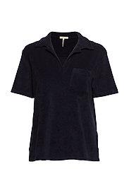 Terry Jersey Poloshirt - NAVY