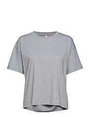 Relaxed Cotton Tee - GREY MEL.