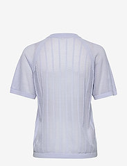 Filippa K Soft Sport - Cotton Mesh Knit Top - t-paidat - sky blue - 1