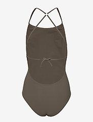 Filippa K Soft Sport - Tie-back Swimsuit - sportsbadetøy - olive - 1