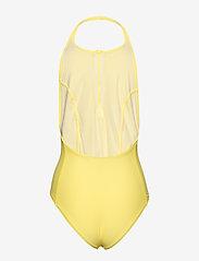 Filippa K Soft Sport - Halter Swimsuit - stroje kąpielowe - lemon - 1
