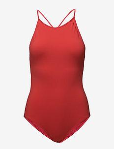 Tie-back Swimsuit - sports swimwear - scarlet