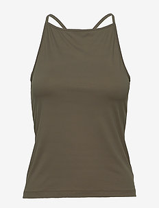 Soft Cross-back Tank - tank tops - olive