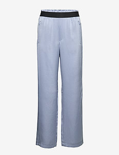 Satin Track Pant - sports pants - sky blue