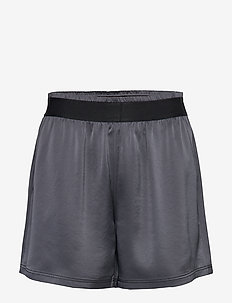 Satin Track Shorts - training korte broek - metal