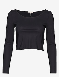 Cropped Dance Top - crop tops - black