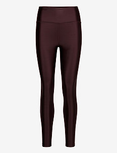 Cropped Gloss Legging - compression tights - maroon
