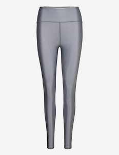 Cropped Gloss Legging - compression tights - silver gre