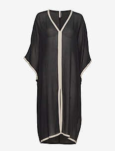 Two-Tone Beach Kaftan - tenue de plage - black/ivor