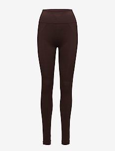 High Seamless Leggings - running & training tights - maroon
