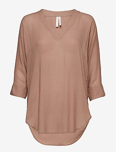 Zoe Tunic Top - TOFFEE