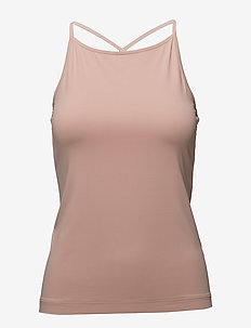 Soft Cross-back Tank - tank tops - pale pink