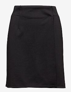 Track Wrap Skirt - sports skirts - black