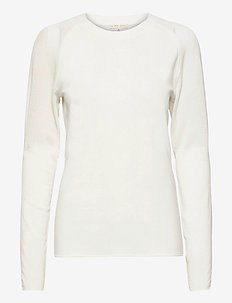 Defined Mesh Top - pitkähihaiset topit - white