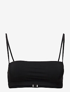 Bandeau Strap Top - bikini overdele - black