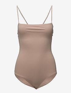 Strap Swimsuit - sports swimwear - pale pink