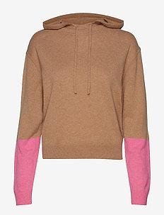 Cashmere Hood Sweater - CAMEL/CARN