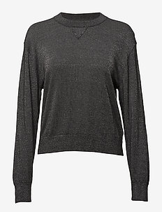 Lurex Knit Sweatshirt - ANTRACITE