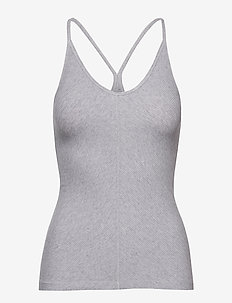 Silky Jersey Strap Top - LIGHT GREY