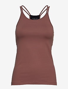 Strap Yoga Tank - BURNT ROSE