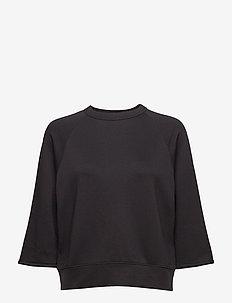 Mid Sleeve Sweat - BLACK