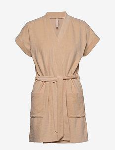 Terry Jersey Kimono - badekåber - powder bei