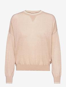 Sheer Knit Sweater - neulepuserot - plaster w.