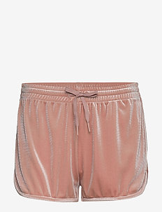 Sporty Velvet Shorts - DUSTY ROSE