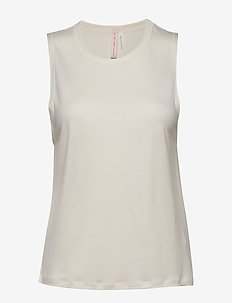 Tencel Muscle Tank - EGG SHELL