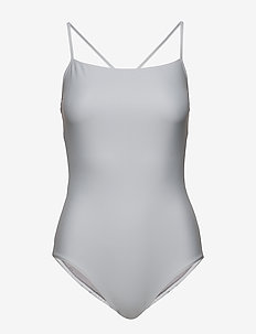 Shiny Strap Swimsuit - sportiga badkläder - cloud