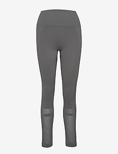 Mesh Legging - running & training tights - green grey