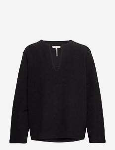 Reversed Split Sweatshirt - sweatshirts - black
