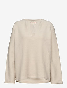 Reversed Split Sweatshirt - sweatshirts - ivory
