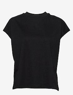 Crew Neck Top - t-skjorter - black