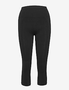 Cropped Seamless Legging - løbe- og træningstights - black